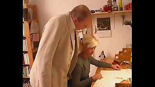 Blonde Teen Seduces Old Tutor Teacher