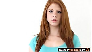 Cute Amateur Redhead Teen At Casting