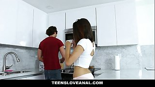 TeensLoveAnal - Brunette Teen Fucked In The Ass