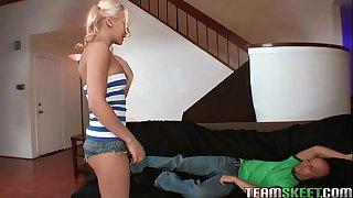 TeamSkeet petite blonde teen Madison Ivy tight pussy fucked hardcore