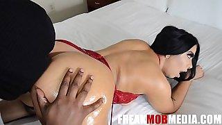 pretty whore jerked my big dick